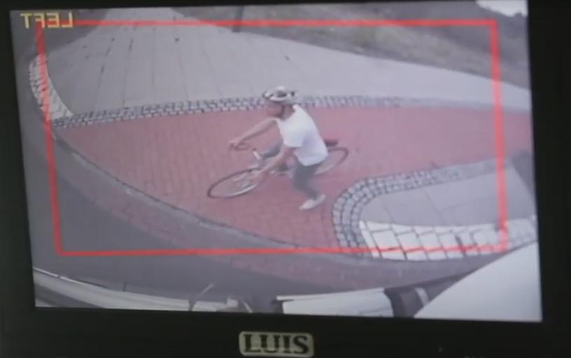 Fahrradfahrer im toten Winkel